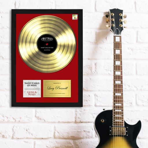 Framed 'Your Song' Print - Gold