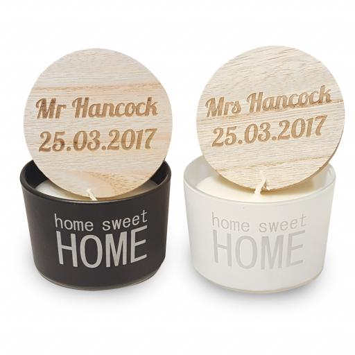 Mr & Mrs Home Sweet Home Scented Candles