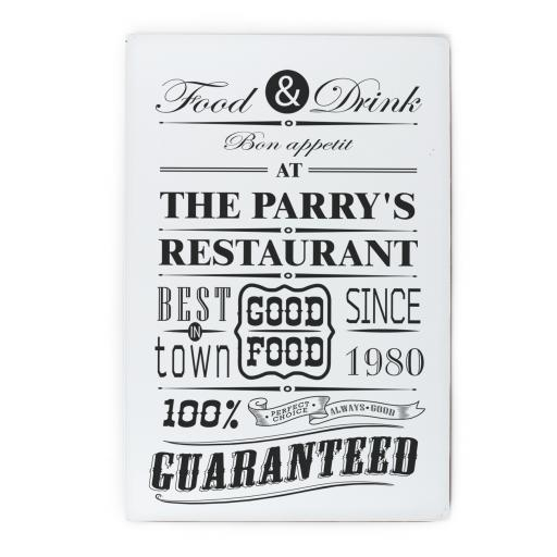 Personalised Food & Drink Restaurant Sign
