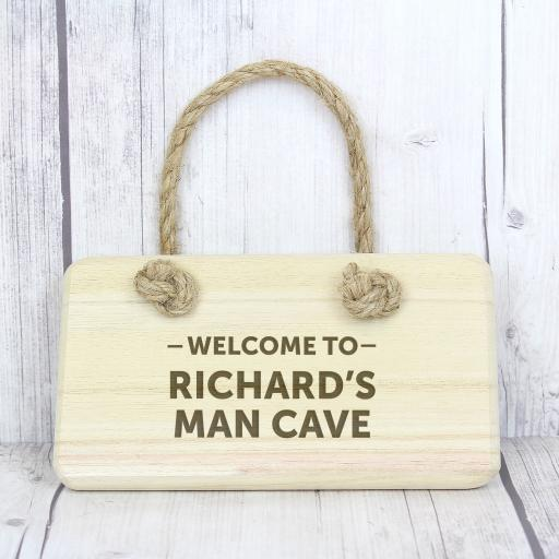 Engraved Welcome To... Wooden Sign