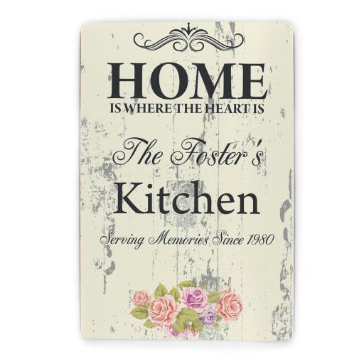 Personalised Shabby Chic Plaque