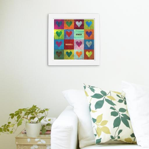 Framed 'I Heart You' Print