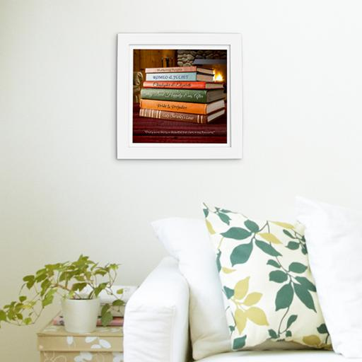Framed 'Love Story' Print