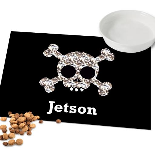Personalised Skull and Crossbones Placemat