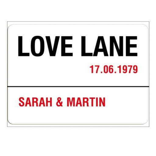 Love Lane Sign